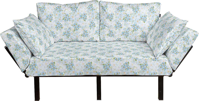 Lunarable Floral Futon Couch Flowers Background Bouque Romantic OFFicial site Popular product