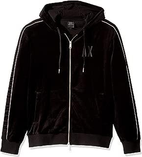 A|X Armani Exchange Men's Velour Zip Up Hoodie