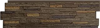 NextStone Stacked Stone Panel Walnut Brown (5 Panels Per Box) (18.15 Sq.Ft. Per Box)