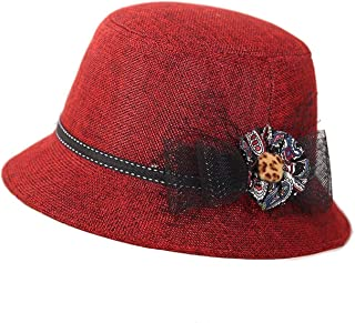 6881599f97ed6 Rising ON Hat Women s Middle-Aged Spring Summer Hat Sunshade Linen Hat  Basin Hat