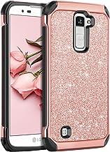 LG K10 Case, LG Premier LTE L62VL L61AL Case, BENTOBEN Sparkly Hybrid Hard Cover Laminated with Luxury Shiny Synthetic Lea...
