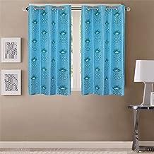 Queenzliving Secret Linen Curtain, Window 5 feet- Pack of 2, Sky Blue