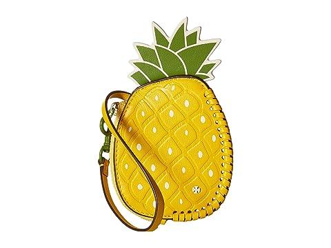 Pineapple Coin Pouch Key Fob, Daisy/Leaf Green
