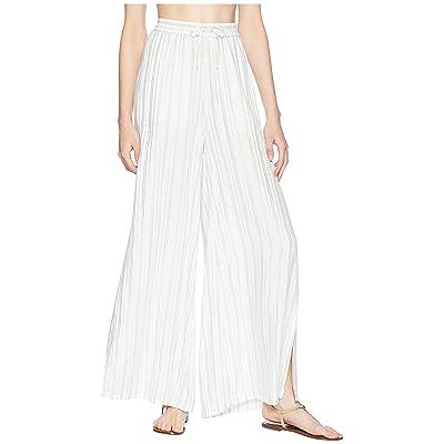 onia Chloe Wide Pants (White Multi) Women