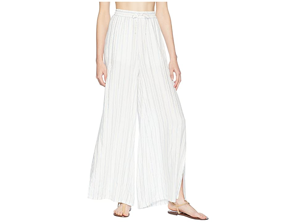 onia Chloe Wide Pants (White Multi) Women