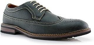 حذاء رجالي من Ferro Aldo Phillip MFA19312 Classic Brogue Wingtip مثقوب من Oxford Derby