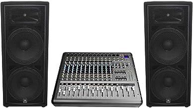 """JBL JRX225 Dual 15"""" 4000w DJ/PA Speakers+Powered 14-Channel Mixer w/USB/Effects"""