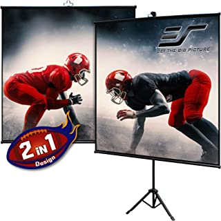 Elite Screens Tripod Lite Wall Series | 2 in 1 Portable Projector Screen Dual Tripod Stand/Wall Mount Indoor/Outdoor 65-IN...