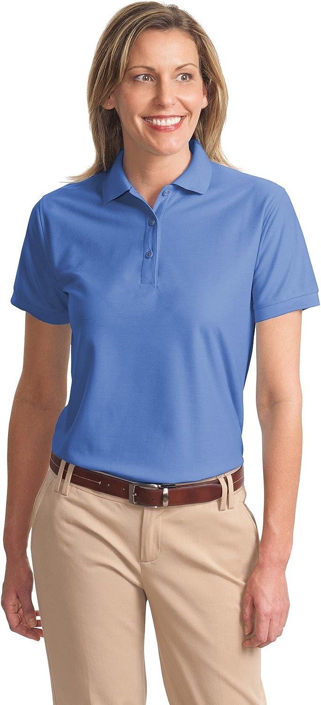 Ladies Silk Touch Sport Shirt, Color: Ultramarn Blue