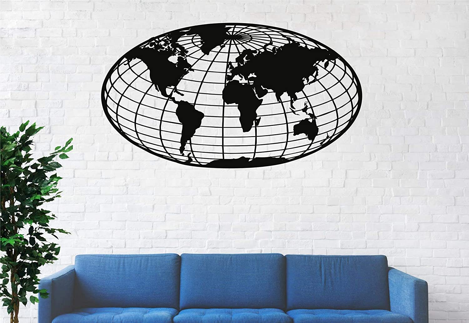 Metal World Map Wall Art Compass World Map Without Borders Metal Wall Decor