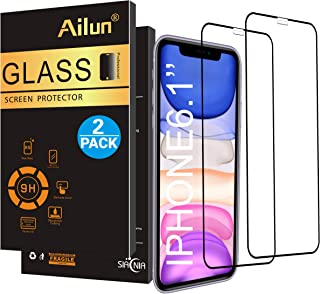Ailun Screen Protector Compatible iPhone 11/ XR,[2 Pack], Tempered Glass, Full Coverage,Anti-Scratch,Case Friendly,Siania Retail Package