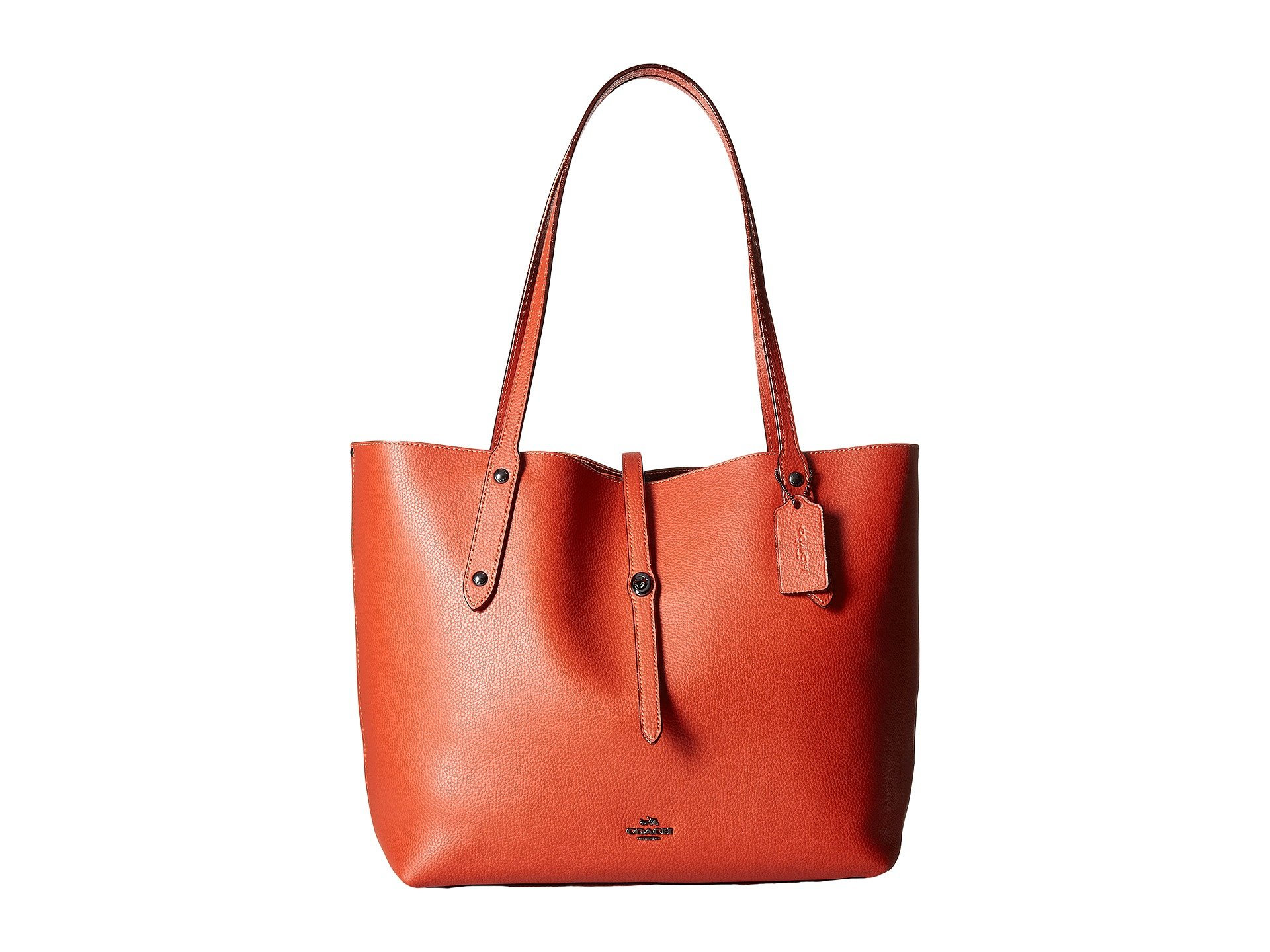 Tote - Metallic Lining Market Tote Vermillion/Metallic Brick - orange - Tote for ladies Coach PpIC0Gi6cR