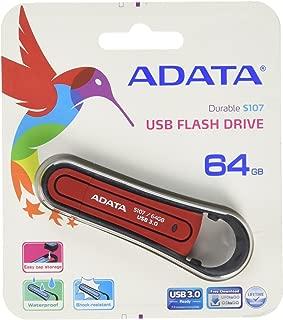 Pendrive AS107, Adata, Pendrives, Vermelho, 64GB