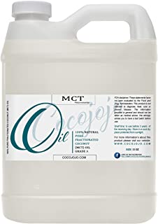 MCT Oil - 100% Pure, Fractionated Coconut Oil from Coconut, Non-GMO, Medium Chain Triglycerides, Vegan, Bulk Carrier Oil -...