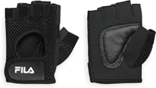 FILA Accessories Exercise Gloves - Classic Fitness Workout Gloves for Men & Women | Padded Palm Breathable Mesh | Ideal fo...
