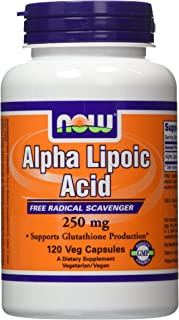 NOW Foods Alpha Lipoic Acid 250 mg, 120 Vcaps (2 Pack)