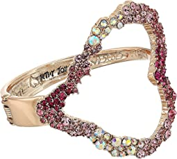 Betsey Johnson Rose Gold Open Heart Cuff Bracelet