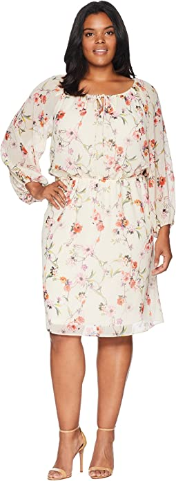 Plus Size Bontia Oasis Peasant Dress