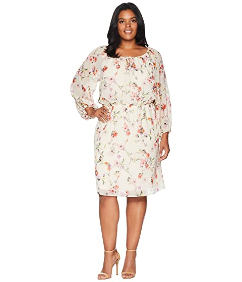 Adrianna Papell Plus Size Bontia Oasis Peasant Dress At Zappos