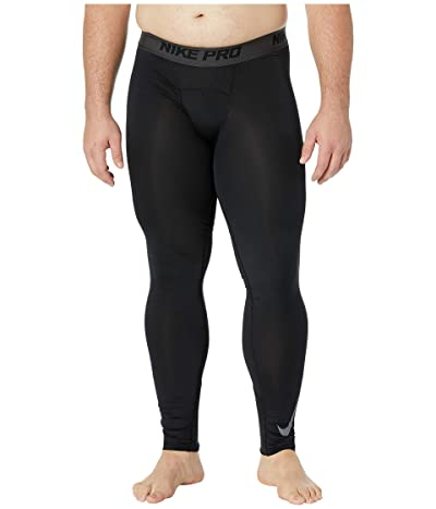 Nike Big Tall Pro Therma Tights (Black/Anthracite/Dark Grey) Men