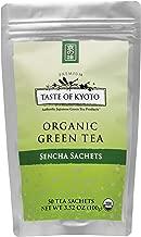 TASTE OF KYOTO Sencha Green Tea Sachets, Bulk Premium, 50 Count