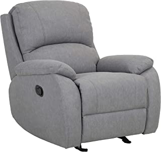 """Amazon Brand – Ravenna Home Oakesdale Contemporary Glider Recliner, 35.4""""W, Grey"""