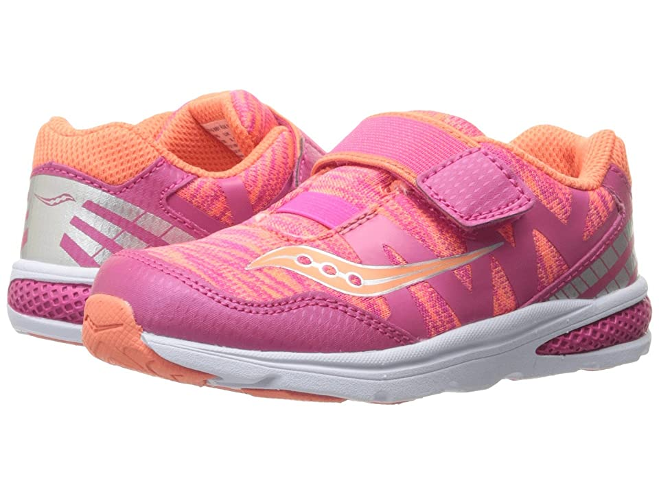Saucony Kids Baby Ride Pro (Toddler/Little Kid) (Coral/Multi) Girls Shoes
