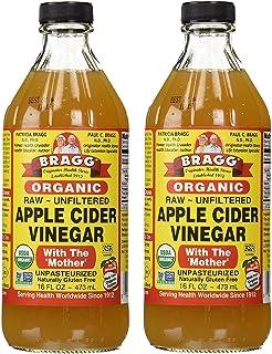 Bragg USDA Gluten Free Organic Raw Apple Cider Vinegar, 16 Fl Oz (Pack of 2)