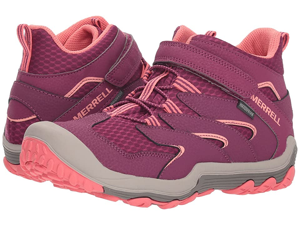 Merrell Kids Chameleon 7 Access Mid A/C Waterproof (Big Kid) (Berry/Coral) Girls Shoes