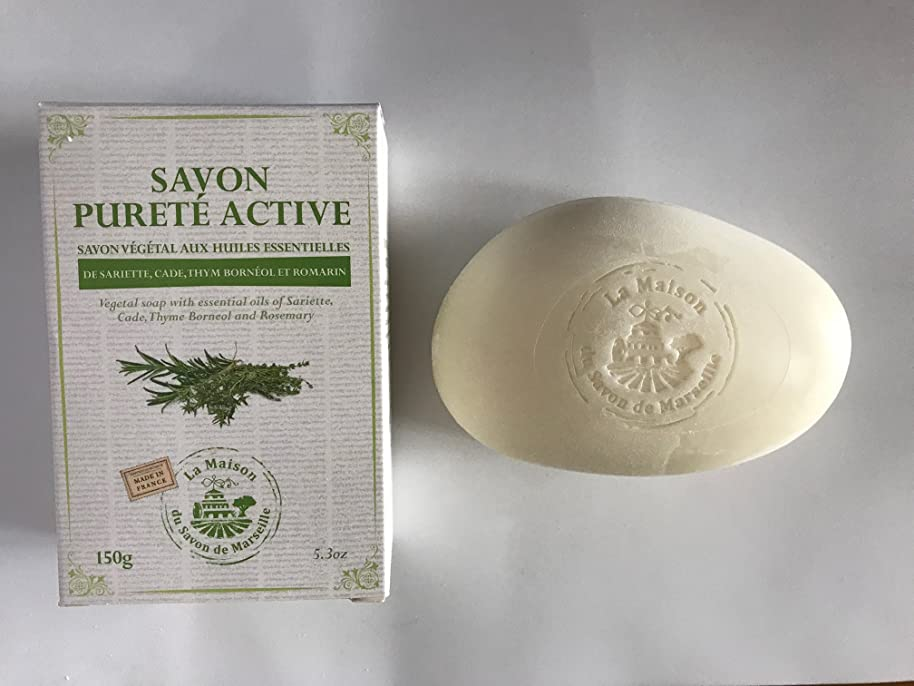 ブルゴーニュ質量役職Savon de Marseille Soap with essential oils,Purete active 150g