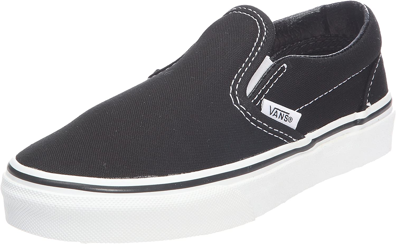 Vans Boys Classic Slip On Fashion Trainers, Black (Black), 28 EU