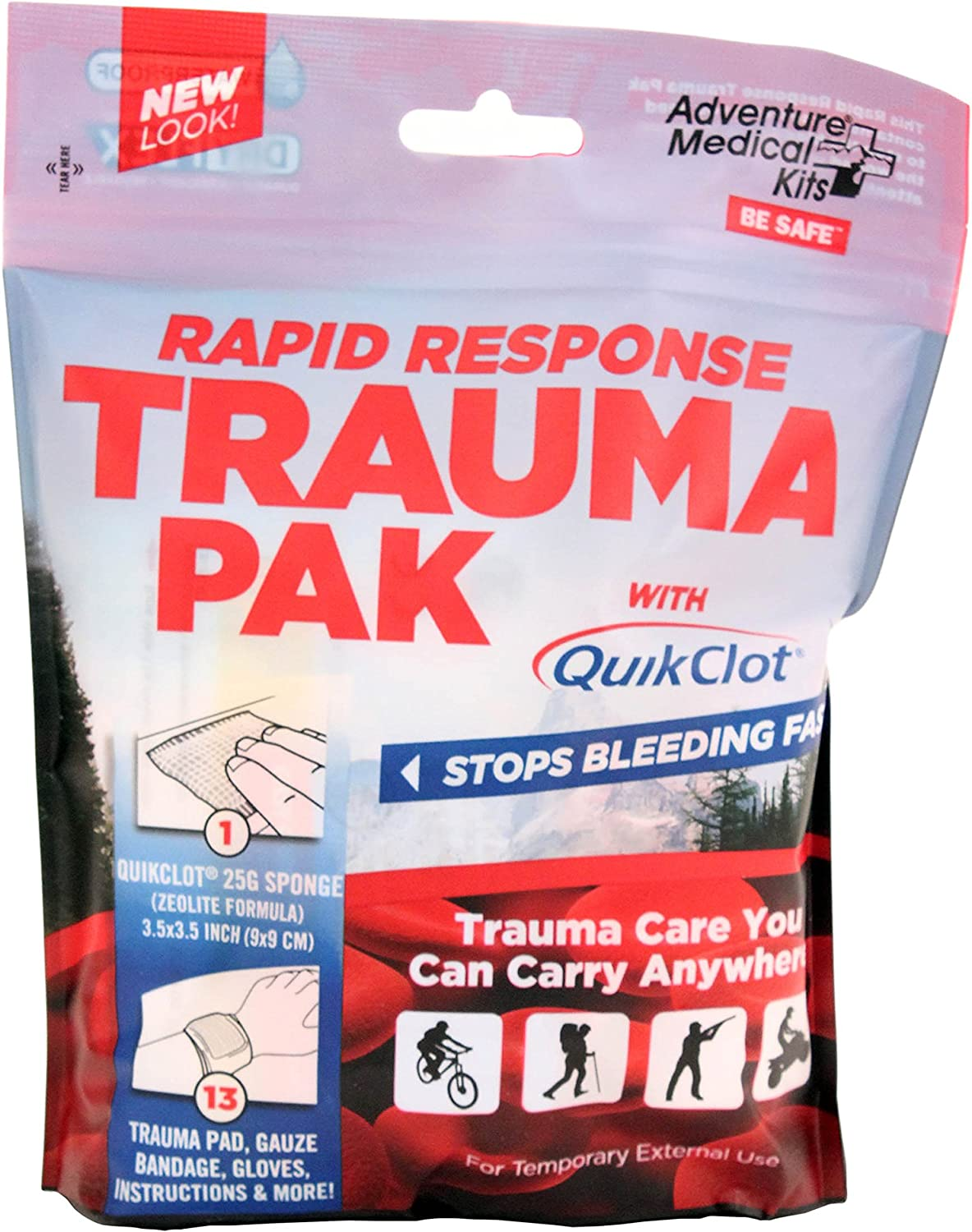 Adventure Medical Kits Selling rankings Rapid Response with QuikClot Pack 2021 Trauma