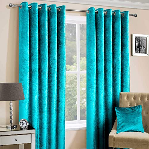 Teal Blue Curtains for Bedroom: Amazon.co.uk