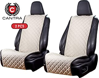 Cantra Z-Model | Front Car Seat Covers | Car Seat Protectors | Premium Quality | 100% Handcrafted | Compatible with 90% Cars, Trucks, SUVs, Minivans | 2-pc | White