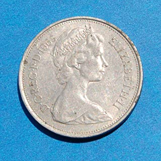 England QEII 10 New Pence 1968 Coin Great Britain