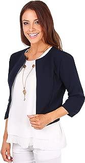 Women's 3/4 Lace Sleeve Bolero Cropped Evening Shrug Cardigan