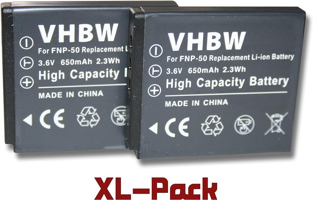 Set 2 x baterías para PENTAX Optio S10 S12 VS20 sustituye Pentax D-Li68 D-Li122