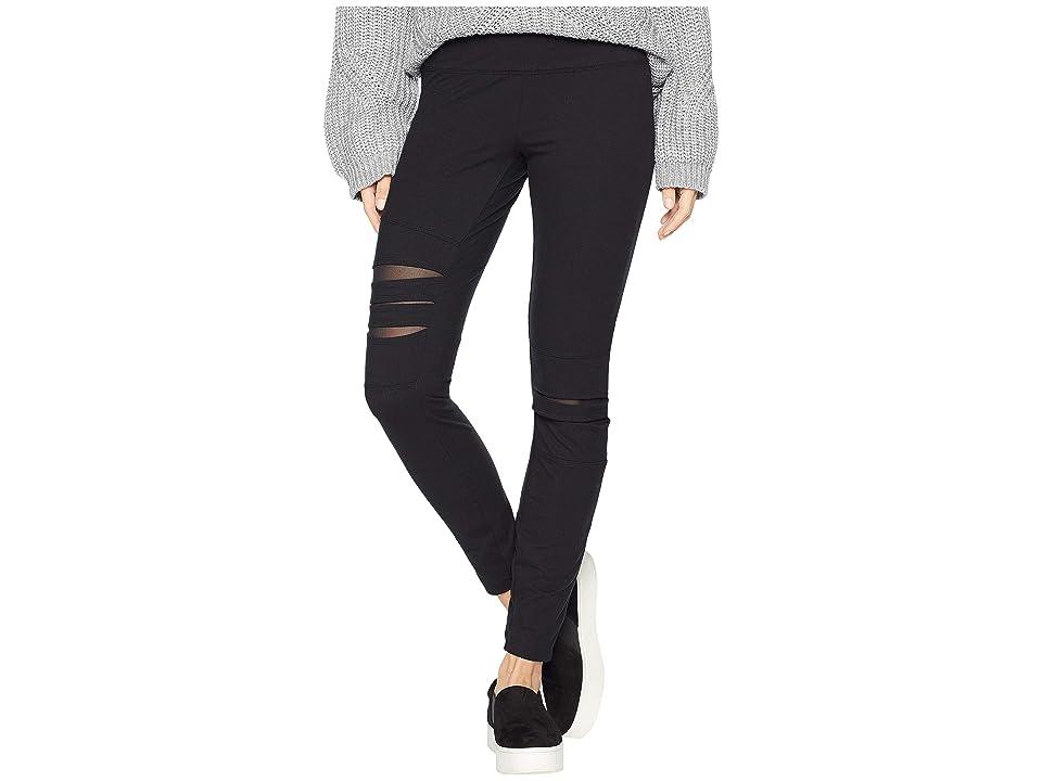 Lysse Slashed Leggings (Black) Women