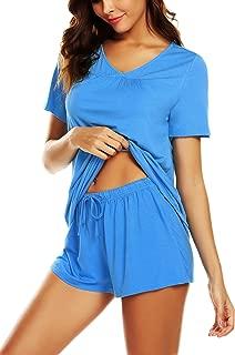 Women's Shorts Pajama Set Short Sleeve Sleepwear Nightwear Pjs S-XXL