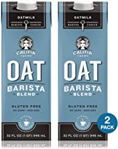 Califia Farms Unsweetened Oat Milk Barista Blend, 32 Ounce (Pack of 2)