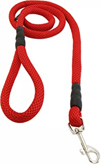 Gooby - Mesh Leash, 4 Feet Dog Leash, Red