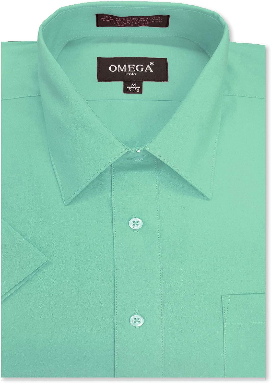 Luxury Camisas Men/'s Dress Shirts Summer Short Sleeves Casual Slim Fit SD83