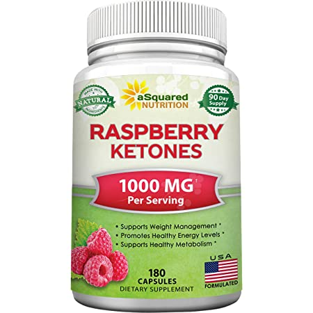 All Natural Raspberry Ketones 1000mg - 180 Capsules - Weight Loss Supplement, Max Strength Plus Appetite Suppressant Diet Pills, Premium Lean Health Powder to Boost Pure Energy & Metabolism