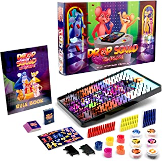 DROP SQUAD Fun Marble & Plinko Style Family Games for Kids, Adults - Learning, Strategy Card Board Game, 5 and Up