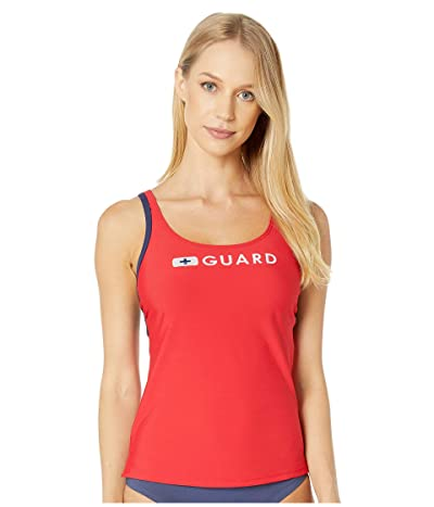 Speedo Guard Tankini (US Red) Women