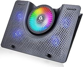 KLIM Nova + Laptop-RGB-Kühler- 11 bis 19 Zoll + Laptop-Gaming-Kühlung + USB-Lüfter +..