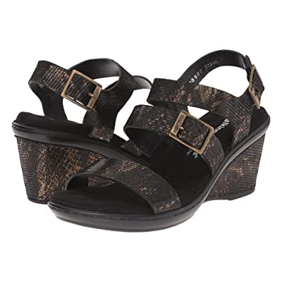 Walking Cradles Lean (Black/Bronze Lizard Print) Women