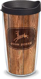 كوب Tervis 1354711 John Deere معزول من Woodgrain مع غطاء أسود، 473 جم، شفاف
