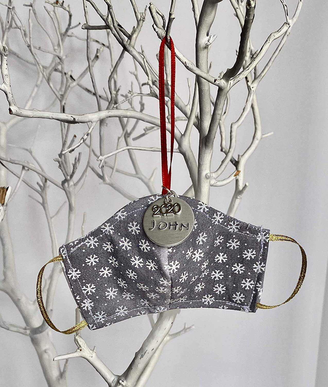 Silver Mini Sacramento Mall Snowflakes Personalized Christmas Mask Face Orn Tree Gorgeous