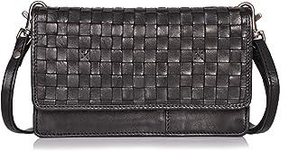 DONBOLSO Venedig Handyumhängetasche I Damen-Geldbörse zum Umhängen I Frauen-Portemonnaie mit 9 Kreditkartenfächern & Handyfach I RFID-Blocker & NFC-Schutz I Leder-Umhängetasche